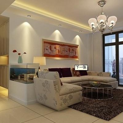 客厅米白色地板砖